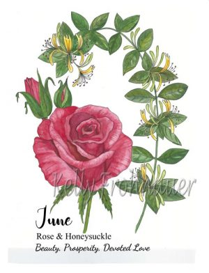 June Birthflower Card