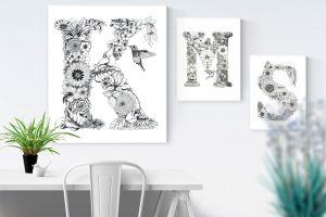 Monogram Botanical Letters