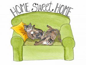 Home Sweet Home Cat Card